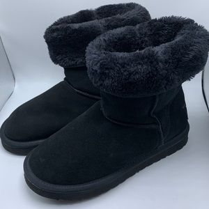 Ugg Black Fur Lined Boots Women's 8W